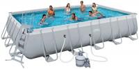 בריכת שחייה מלבנית Bestway Power Steel Frame Pools 671x366x132 כולל קיט מסנן חול