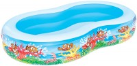 בריכת שחייה שמיניה מתנפחת ריף דגים במידות 262X157X46  דגם 54118