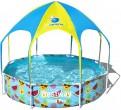 """בריכת ילדים עם צלון מתקפל ומתז מים עליון במידות 244X51 ס""""מ"""