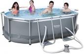 בריכת שחייה אובאלית Bestway Power Steel Frame Pools 300x200x84 כולל משאבה