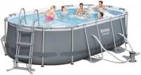 בריכת שחייה אובאלית Bestway Power Steel Frame Pools 424x250x100 כולל משאבה