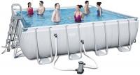 בריכת שחייה מרובעת Bestway Power Steel Frame Pools 488x488x122 כולל משאבה