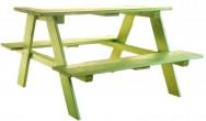 שולחן  צבעוני לילדים ונוער כולל שני מושבים מעץ מלא