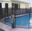 גדר בטיחות איכותית נשלפת לבריכה בגובה 1.35 מטר בצבע שחור מדגם Premium