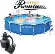 בריכת שחיה Intex Frame Pool 457X91 Premium  עם מסנן חול
