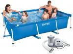 בריכת שחיה עם משאבה משודרגת Frame pool 300X200X75IMP