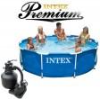 בריכת שחיה Intex Frame Pool 305X76 Premium  עם מסנן חול