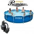 בריכת שחיה Intex Frame Pool 366X76 Premium  עם מסנן חול