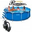 בריכת שחיה Intex Frame Pool 366X99 Premium  עם מסנן חול