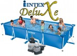 בריכת שחיה Intex Frame Pool 450X220X84 עם מסנן חול