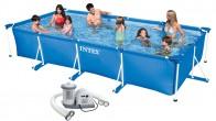 בריכת שחיה עם משאבה משודרגת Frame pool 450X220X84IMP