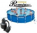 בריכת שחיה Intex Frame Pool 457X107 Premium  עם מסנן חול