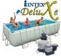 """בריכת שחיה Intex Ultra Frame 457X274X122 עם מסנן חול 0.5 כ""""ס"""