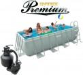 בריכת שחיה Intex Ultra Frame 400X200X100 Premium  עם מסנן חול