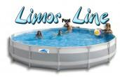 בריכת שחייה עגולה מדגם Limor Pool Line 550X100