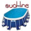 בריכת שחייה אובאלית מדגם Oval Pool Line 796X426X132