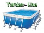 בריכת שחייה מלבנית מדגם Yarden Pool Line 1550X390X150