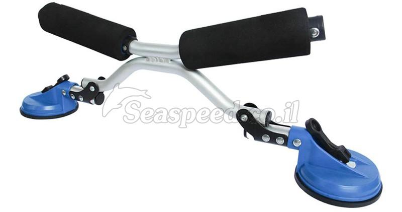 מתקן קל מתכוונן להעמסת והורדת קיאק מגג הרכב Speed Roller