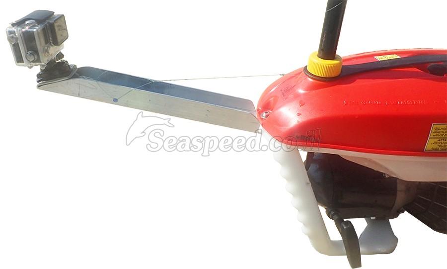 מתקן AQUA-POLE להנחת מצלמת GO PRO באקווה סקוטר