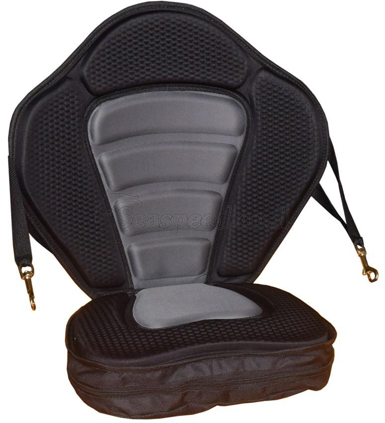 כיסא דה לוקס גב גבוה עם ריפוד גבוה בתחתית משענת מתכוננת לקייק מדגם APEX-1 ריפודי ג'ל מוצק בגב המושב ובתחתית כולל מייצבים במשענת הגב