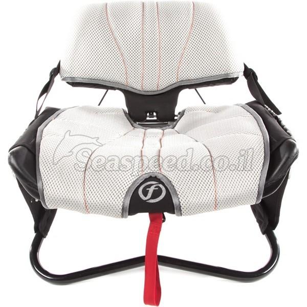 כיסא מוגבה מרופד הכולל משענת גב גבוה מתכוננת כיסא דייג Gravity Seat