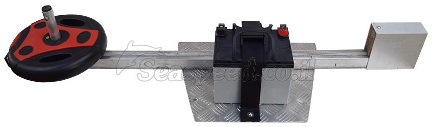 מאחז מנוע למנוע חשמלי או בנזין לקיאק  זוגי מדגם Marlin
