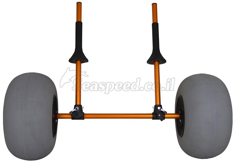 עגלת קרניים עם גלגלי בלון גדולים לנשיאת קיאקים Speedy Balloon Cart