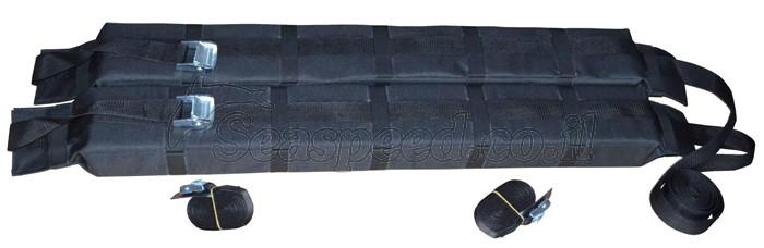 גגון רכב מרופד רך לקייק הכולל רצועות קשירה והידוק באורך 5 מטרים ותיק נשיאה Speed Rack