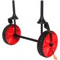 עגלה מתכווננות לקיאק כולל גלגלים שטח גבוהים ורחבים ורצועת קשירה