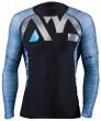 חולצת ליקרה שרוול ארוך בצבע תכלת Rashguard Division