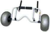 עגלת אלומיניום HD עם גלגלי בלון גדולים ורחבים להובלת קיאקים וקאנו