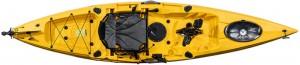 קיאק דיג מהיר הנעת פדלים וסנפירים מדגם Pedal Drive Coral