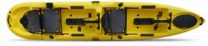 קיאק זוגי לדיג וספורט הנעת פדלים ומדחף מדגם Pedal Drive Gecko
