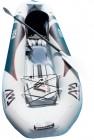 קיאק מתנפח מקצועי ליחיד לחתירה עם חלון שקוף ברצפה דגם View תוצרת AQUA MARINA