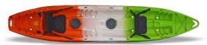 קיאק לשלישיה עם גלגל הובלה FeelFree Corona  המחיר כולל חבילת אבזור מפוארת