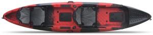 קיאק זוגי מתקדם מדגם Tetra לחתירה ספורט ודיג כולל כיסאות דה לוקס וחבילת אבזור קומפלט