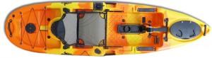 קיאק דיג מהיר הנעת פדלים ומדחף מדגם Pedal Drive Tide