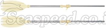 """זוג משוטי אלומיניום עם ציר מסתובב באורך 150 ס""""מ Sevylor"""