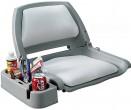 מושב מרופד לדייג מסתובב 360 מעלות עם משענת גב גבוהה מתקפלת Swivel Seat