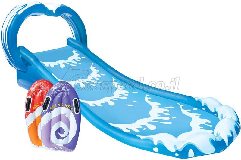 בריכת מגלשה לבריכה הכוללת זוג גלשנים תוצרת Intex