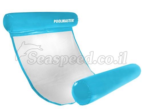 """כיסא צף איכותי מרושת גוף במים עם משענת לראש ולרגלים מק""""ט 70767"""