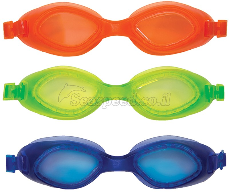 שלוש משקפי שחייה צלילה צבעוניים במארז תוצרת SwimWays