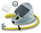 משאבת ניפוח מקצועית רגלית עם שעון לחץ דוחסת ויונקת 6.5 ליטר Bravo 6.5
