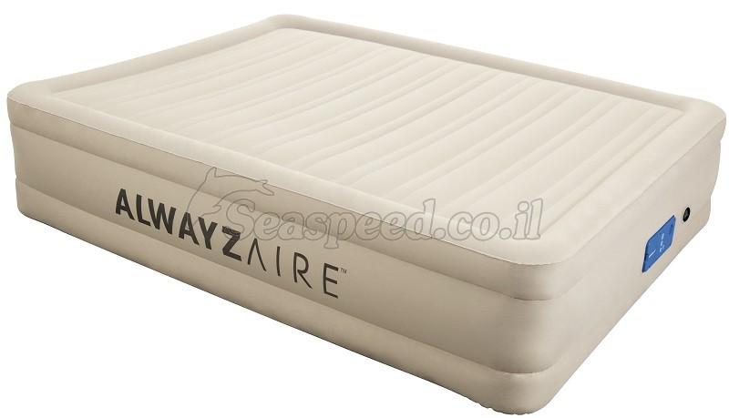 מזרון זוגי תוצרת Bestway AlwayzAire Fortech כולל משאבת ניפוח אוויר חשמלית חכמה דגם 69032
