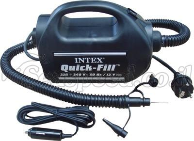 משאבה חשמלית חזקה לבית ולרכב תוצרת  INTEX לחץ ניפוח PSI 12 דגם 68609