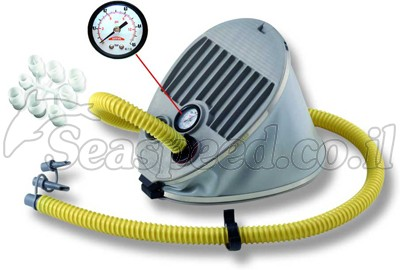 משאבת ניפוח מקצועית רגלית עם שעון לחץ דוחסת ויונקת 5 ליטר  Bravo 5