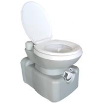 חדש!!! שירותים כימיים 20 ליטר כולל עגלת נשיאה נשלפת  הדחה חשמלית  בלחיצה על כפתור
