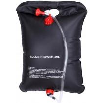 מקלחת שדה סולארית שחורה בנפח 20 ליטר