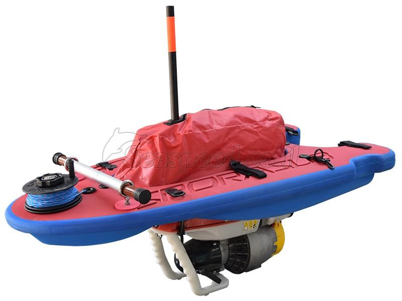 מצוף קשיח לנשיאת ציוד לצלילה חופשי ושייט Aqua-Scooter Speed Board