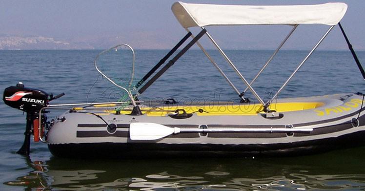 מגה וברק סירה מתנפחת המתאימה למטרות דייג חתירה ומנוע Sailor 340 - סירות AY-19